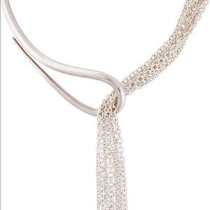 Hermes sterling necklace